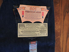 Vintage 1993 Men's Preshrunk Levi's 501 Jeans Made in USA Tag 34x32