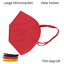 Indexbild 17 - ✅5 Stk FFP2 Maske Bunt Farbig 5-Lagig Atemschutz DEUTSCHER HÄNDLER ✅ TÜV ✅ CE ✅