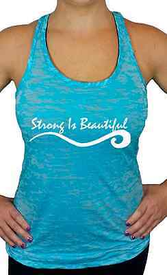 Strong is Beautiful Burnout Racerback Tank Top, Workout Shirts & Tops