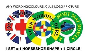 "12  St George CROWN GREEN STICKERS  1/""   LAWN BOWLS FLATGREEN  AND INDOOR BOWLS"
