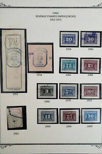 Chile-1950-039-s-to-1970-039-s-Revenue-Stamp-Collection