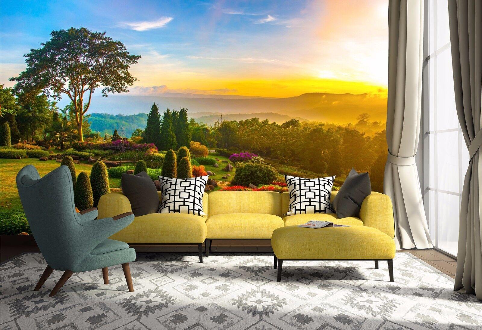 3D Sunshine Woods Sky 802 Wallpaper Mural Paper Wall Print Wallpaper Murals UK