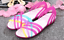 Women-039-s-Summer-Open-Toe-Jelly-Flat-Sandals-Beach-Rainbow-Color-2018-Shoes-Sandal thumbnail 3