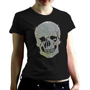 pailetten totenkopf glitzer rhinestone skull strass damen. Black Bedroom Furniture Sets. Home Design Ideas