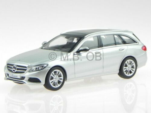 Mercedes S205 C-clase T-Modell Avantgarde plata coche en miniatura Norev1:43