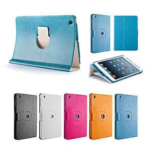 360-Drehbar-Case-iPad-mini-1-2-3-Schutz-Huelle-Cover-Etui-Staender-Tasche-Blau