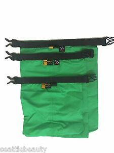 Green-3pcs-waterproof-dry-storage-sack-bag-Canoe-Boating-Floating-Camping