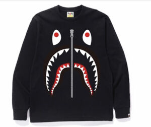 df755f174 A Bathing Ape Big Shark Long Sleeve Tee - Black - Size Medium ...