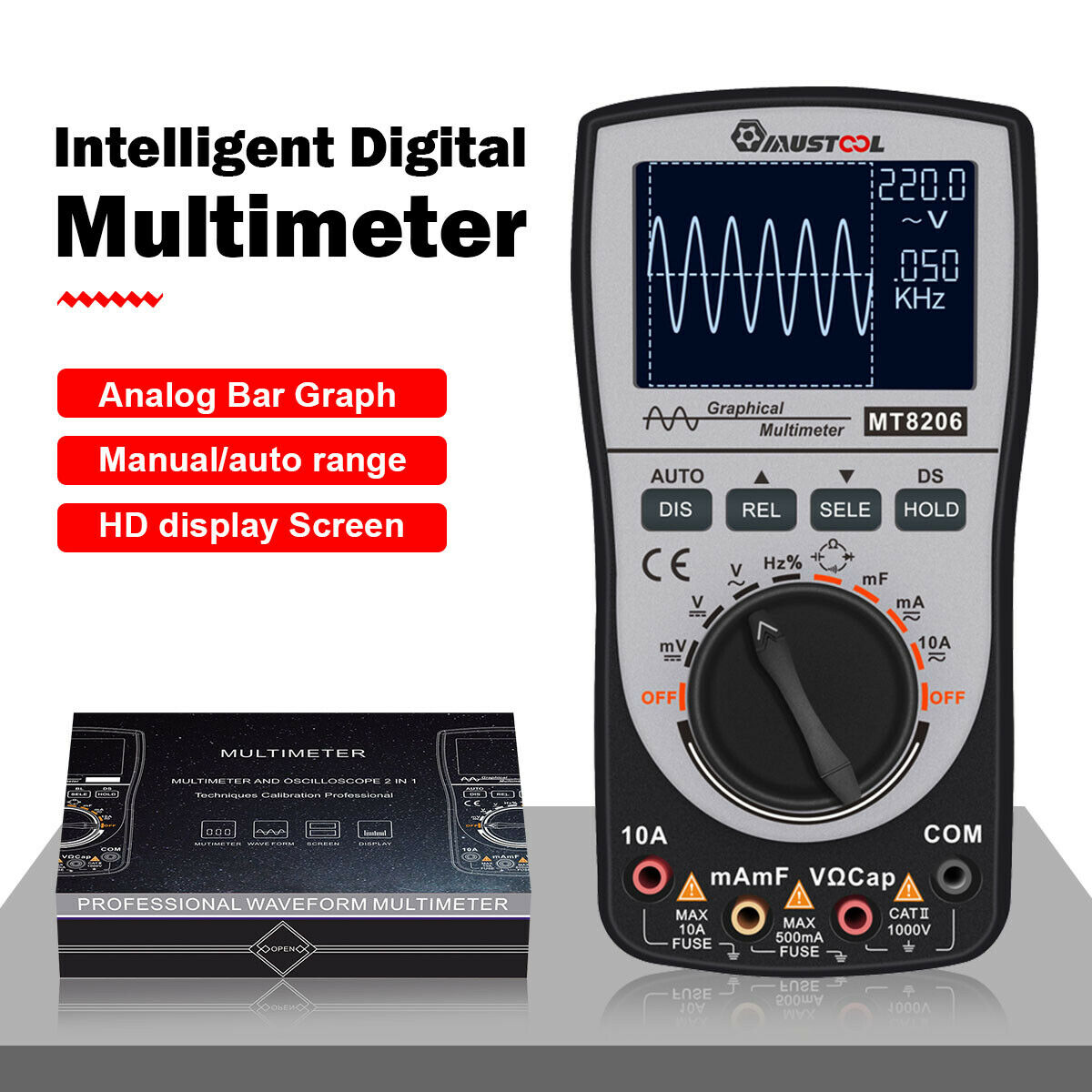 MUSTOOL MT8206 2 in 1 Intelligent Digital Oscilloscope Featured Image