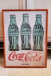 16531119ec1 ANDY WARHOL 1962 THREE COKE BOTTLES LITHOGRAPH PRINT FRAMED POSTER ...