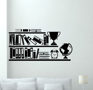 Image Is Loading Books Bookshelf Wall Decal Library School Vinyl Sticker