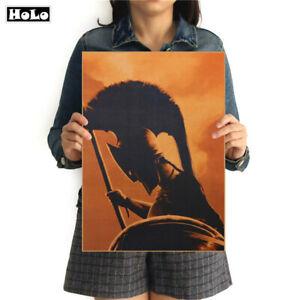 Spartan-Krieger-Gladiator-Roemer-Warrior-300-Vintage-Poster-Bild-Bilder-Wandbild