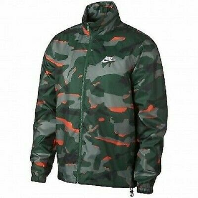 L Mens Nike NSW JD Windbreaker Jacket Camouflage NWT $80