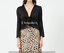 CHAMPAGNE-Long-sleeve-cropped-top-lace-tie-front-deep-v-SIZE-S-M-C-DISCRETION thumbnail 3