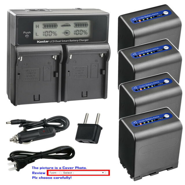 Kastar DLi1 Battery LCD Dual Fast Charger for HP C8872A