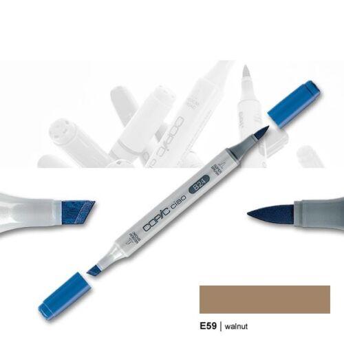 Copic Ciao e59 diseño Walnut Marker con cuña-y punta de pincel