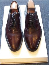 Hugo Boss dark Burgundy Leather Oxfords Men's size 9 UK  11 US Made in Italy