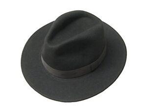 Caricamento dell immagine in corso Nero-Lana-Feltro-Cowboy-Cappello -Trilby-Fedora-Indiana- df6738123311