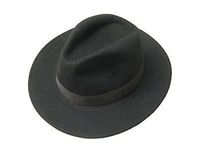 Hommes Femmes Laine Chapeau de cow-boy Western Chapeau Panama Sunhat large bord Fedora Trilby