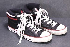 CB63-Converse-Star-Player-Chucks-High-Top-Sneaker-Gr-40-Leder-schwarz-Leather
