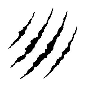 Claw Marks Sticker Decal For Car Trailer 4wd Brand New