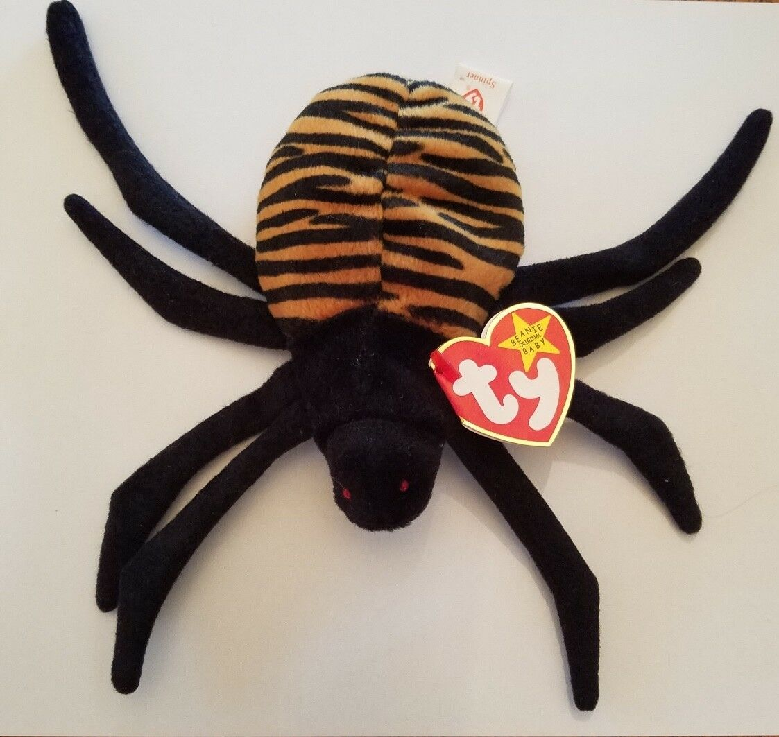 Rare Retired Ty Beanie Babies Spinner P.E. Pellets 1996 Excellent Condition