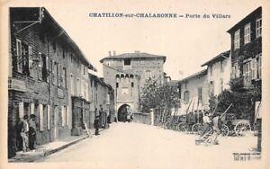 CPA-CHATILLON-SOBRE-TINA-puerta-de-Villars