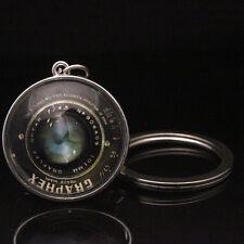 Camera Lens White K Key chainsCabochon GlassKeyfob Pendant Keyring
