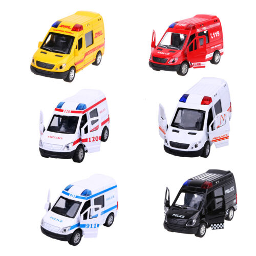 Hot Sales Pull Back Car Toys Office Car Ambulance Fire Fighting Truck Model Toys