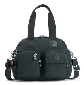 BORSA-KIPLING-DEFEA-UP-KI2500-TRUE-NAVY-H66-TRACOLLA-NUOVA-SCONTATA