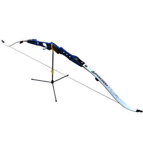 1XBow Stand Archery Recurve Bows Holder Black for Hunting Shooting Outdoor Sport