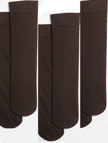 NWT THREE PAIRS OF TALBOTS MICROFIBER BROWN BOOT SOCKS TROUSER KNEE HIGHS