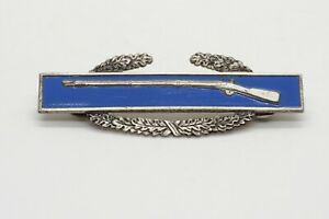 WWII Sterling Army CIB Combat Infantry Badge With Sterling Clutches GREAT SHAPE