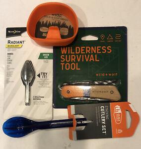Camping Set #2 Wildo Fold-a-cup Wild + Wolf Survival Tool Cutlery Set Microlight