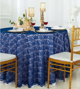 Round Table Overlays.Details About Wedding Linens Inc 108 Round Lace Table Overlays Toppers Lace Tablecloths