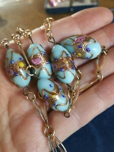 Fabulous-Antique-Flapper-Venetian-Baby-Blue-Wedding-Cake-Lampwork-Necklace