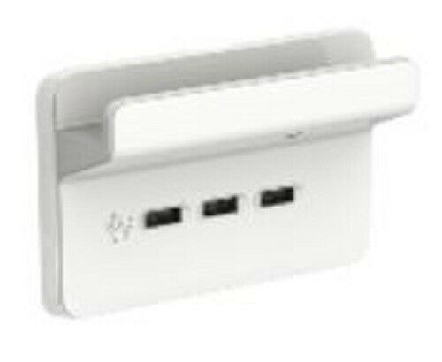 Clipsal ICONIC USB CHARGING STATION WITH SHELF 3Outlets, Vivid WhiteAust Brand