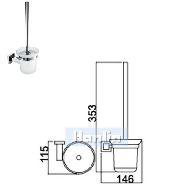 Square Bathroom Accessory Towel Rail Rack Robe Hook Soap Dish/dispenser Toilet