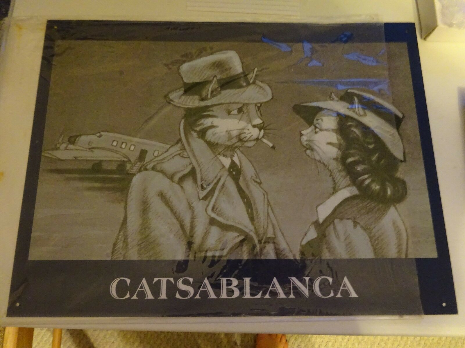 CATSAWeißA Cat Hall of Fame metal sign NEW wall art 12  x 16