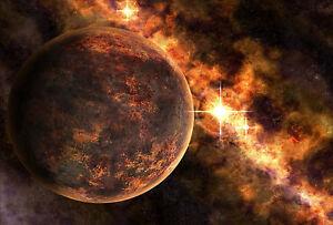 Encadree Imprimer Ardente Planete Rouge Photo Poster Art Cosmos