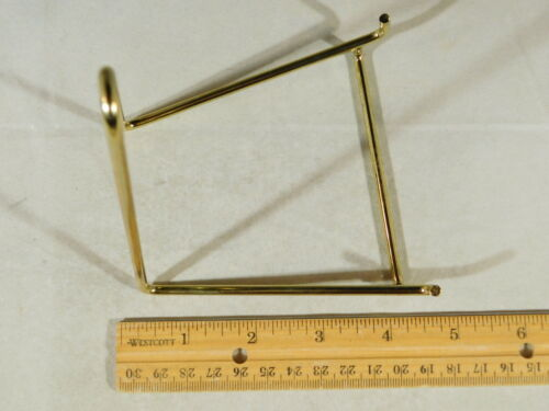Large Gold Colored Easel Display Stand for Plates ONE Fossils and More!