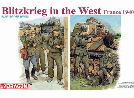 Dragon 1 35 Blitzkrieg in the West, France 1940 Soldier Figure Model Kit 6347