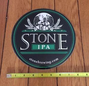 "CALIFORNIA Big 8/"" STICKER Beer ~ STONE Brewing Company IPA ~*~ San Diego County"