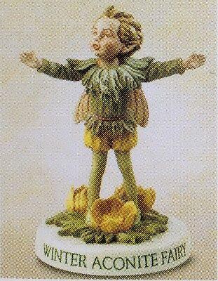 WINTER ACONITE Flower Fairy Boy Figurine W Base Cicely Mary Barker Series IX