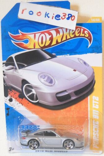 SILVER VARIANT USLC REG 2010 Hot Wheels NEW MODELS #14//44 PORSCHE 911 GT2