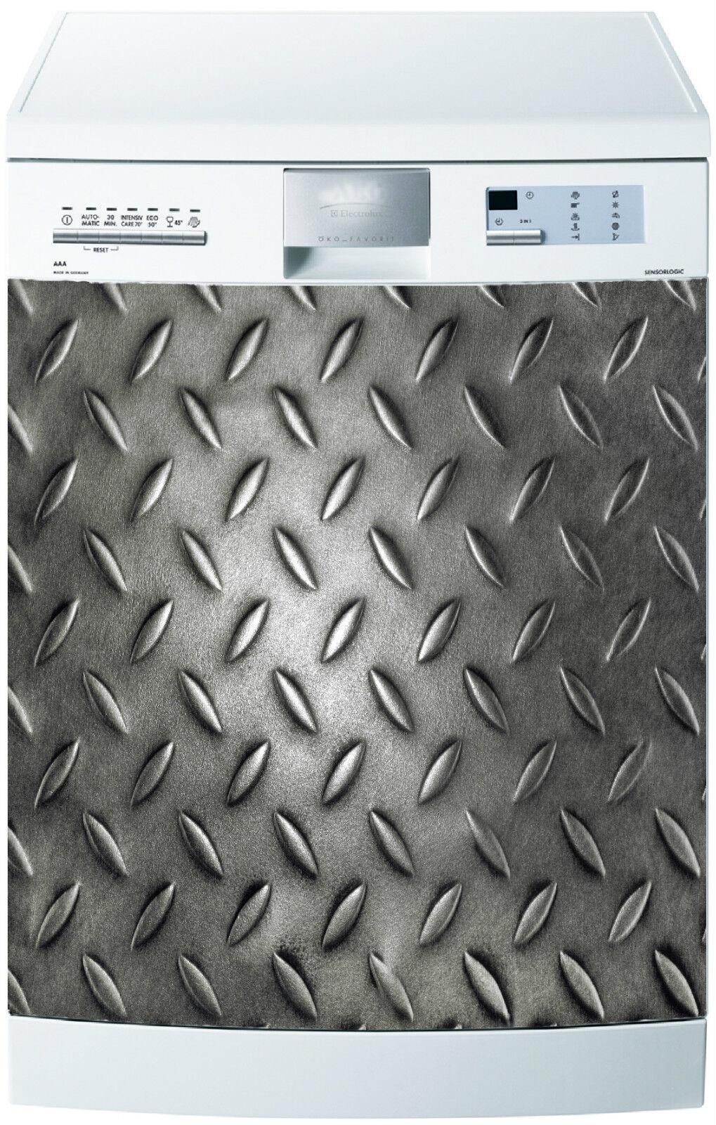 Adesivo Lavastoviglie Decocrazione Cucina Elettrodomestici Metall 721 60x60cm