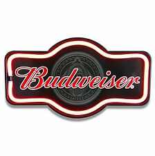 Budweiser Beer LED Neon Lighted Sign Marquee Shape For Bar, Garage, or Man Cave