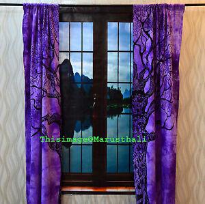 Image Is Loading Tree Of Life Curtain Window Drapery Decor Wall