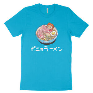 Ponyo-on-the-Cliff-Ham-Ramen-Funny-Men-Anime-Graphic-Tee-Totoro-Unisex-T-Shirt