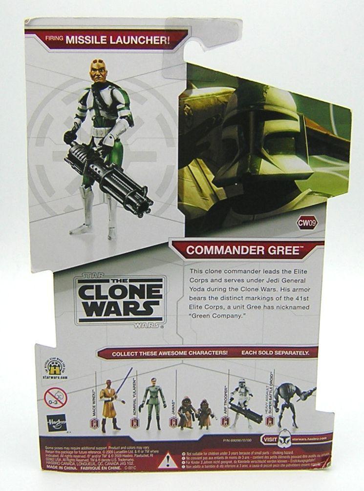 Star Wars Wars Wars Clone Wars CW09 Clone Commander Gree 981351